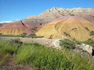 Geologiske strukturer i Badlands (foto: Cheryl Scott)